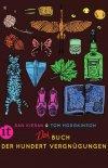 Dan Kieran, Tom Hodgkinson, Das Buch der Hundert Vergnügen, Katze, Slipper, Papierflieger, Ahornblatt, Flasche, Schmetterling, Glas, Vogel, Blume, Mond
